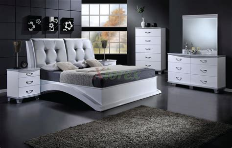 platform bedroom furniture set with leather headboard 145 xiorex