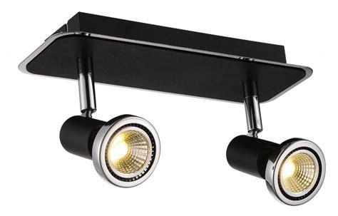 Black Chrome Ceiling Light Ceiling Light Led White Black Chrome Brushed Steel 2xgu10 5w 105mm H Myplanetled