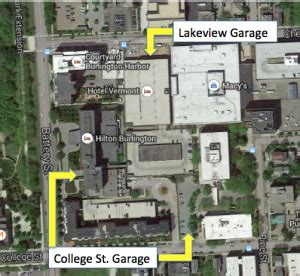 Battery Parking Garage Rates by Burlington Vt Parking Garage Rates For Lakeview And
