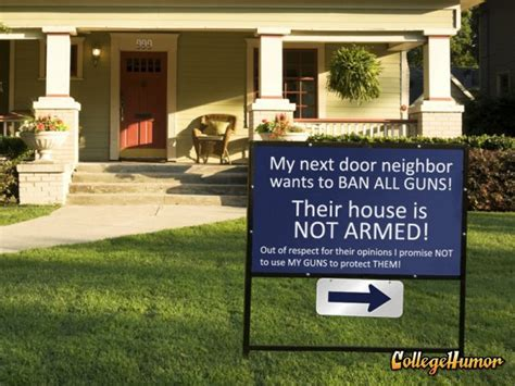 my next home gun sign calls out neighbors guns humor and