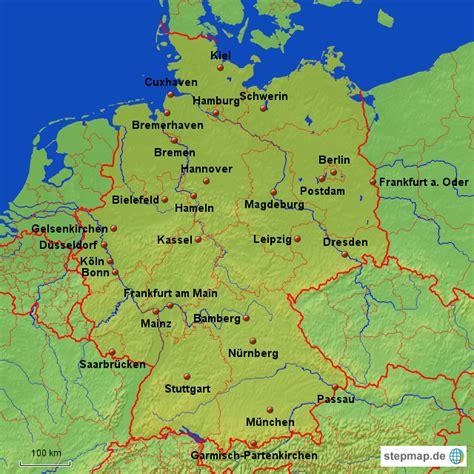 deutsches büro grüne karte adresse deutsche bekannte st 228 dte barny landkarte f 252 r deutschland