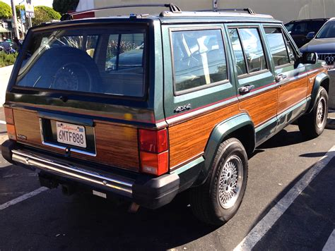 wood panel jeep cherokee willys feral cars