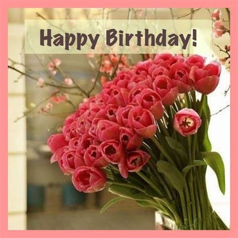 happy birthday flowers images happy birthday image with beautiful flowers pictures