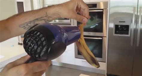 Hair Dryer And Banana this starts drying a banana the reason brilliant