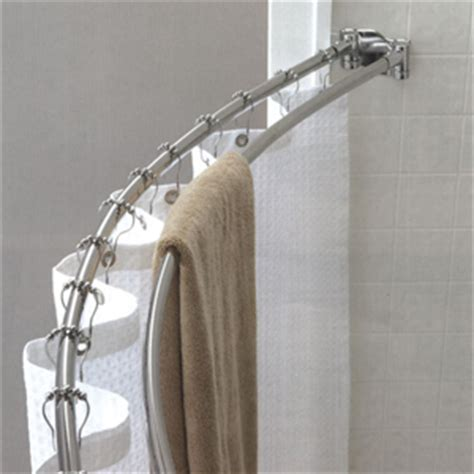 best curved shower curtain rod double curved shower rod