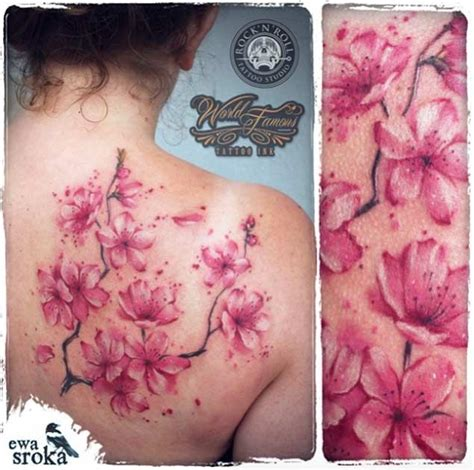 cherry blossom watercolor tattoo the 50 best cherry blossom tattoos inked
