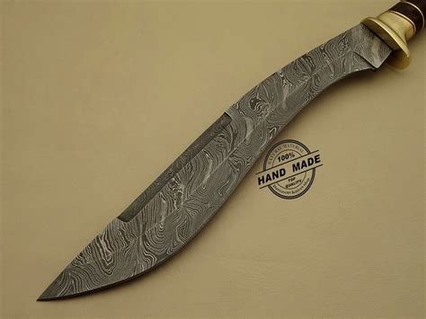 Handmade Damascus Steel Knives - damascus kukuri knife custom handmade damascus steel