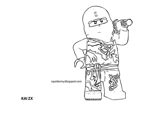 ninjago coloring pages kai zx lego ninjago coloring pages squid army