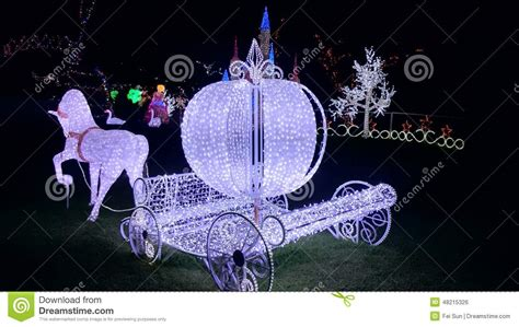cinderella carriage lights light show cinderella carriage editorial