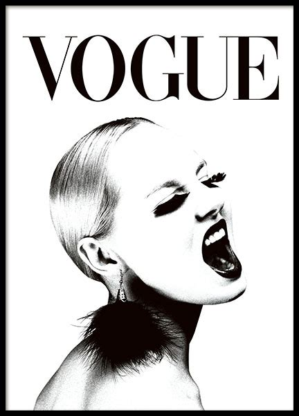 printable posters black and white trendy vogue poster in black and white super stylish