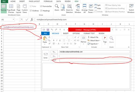 email exle excel spreadsheets help how to send emails with custom