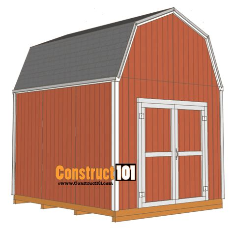 Free House Blueprints And Plans Shed Plans 10x12 Gambrel Shed Construct101