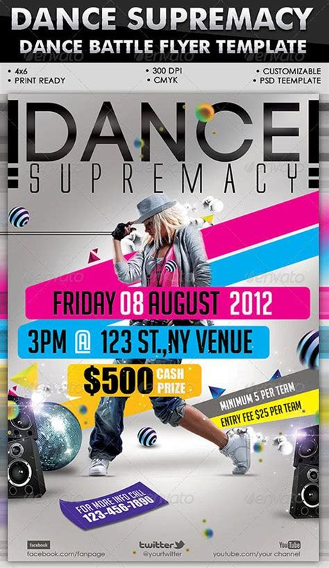 templates for flyers and posters urban dance party club flyer poster template free club