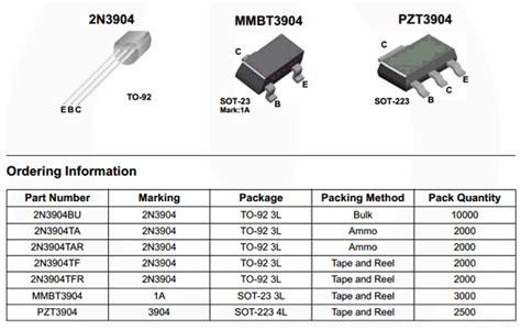 datasheet of transistor 2n3904 2n3904 datasheet pdf fairchild semiconductor datasheet 2n3904 datasheetbank