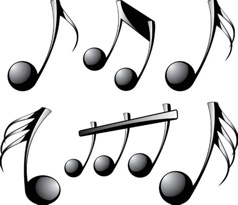 imagenes de tonos musicales free download of 3d musical notes vector vector graphic