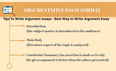 Argumentative Essay Tips by Tips To Write Argumentative Essays With Best Way To Write Argument Essay