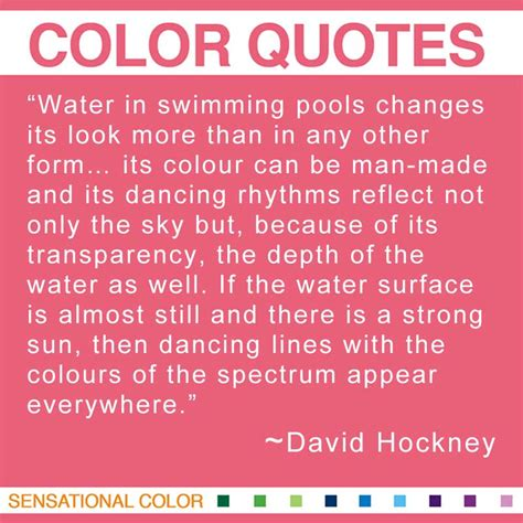 quotes about color by david hockney sensational color