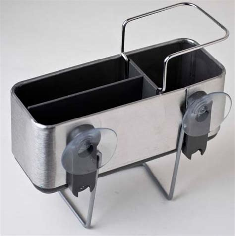 bathroom sink caddy sink bath stainless steel caddy with divider astv278 ebay