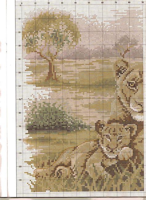 casa punto it quadro casa punto croce con stupendi leoni 4