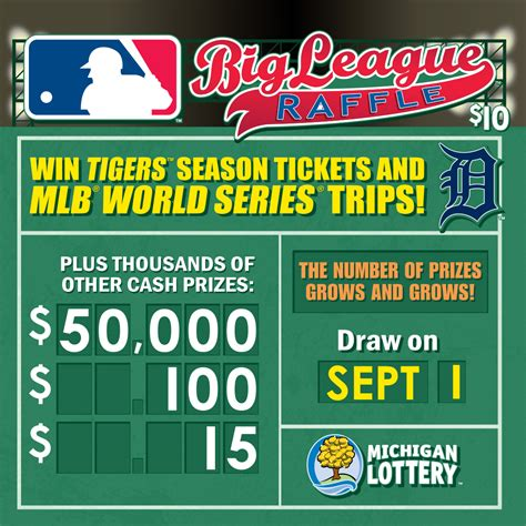 swing batter batter michigan lottery s big league raffle