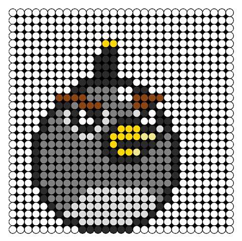 Black Angry Bird Perler Perler Bead Pattern Bead Sprites