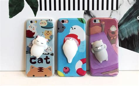 Softcase 2 In 1 Cat Ring Korean Iphone 6 6 7 7 8 8 these iphone cases soft squishy cats on the back of them