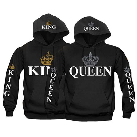 couple hoodie boy king girl queen and new design couple new king and queen hoodies valentine multi colors matching