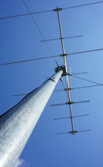 high antenna masts extended masts bad tv reception areas