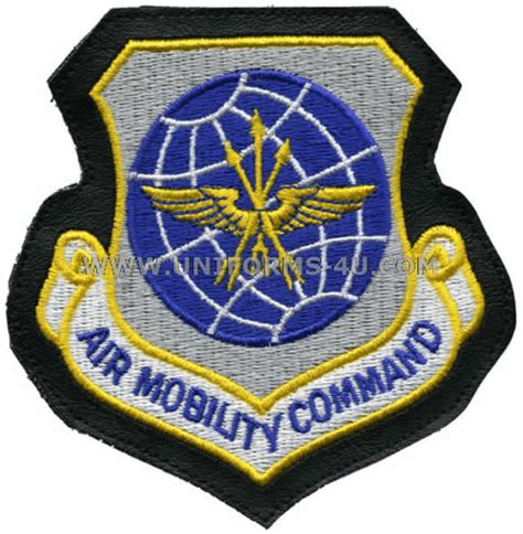 air force mobility command air force patch air mobility command on leather with velcro