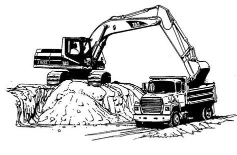 excavator truck coloring page excavator coloring pages excavator coloring pages color