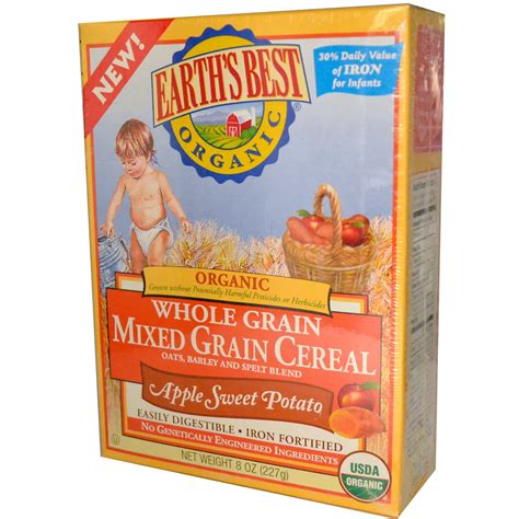 whole grain 10 grain cereal earth s best organic whole grain mixed grain cereal