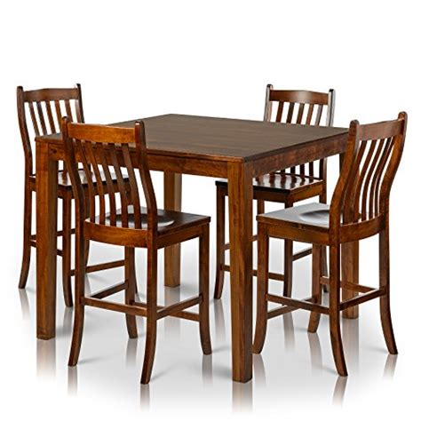 counter height chairs set of 4 counter height square solid maple wood table and chair set