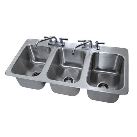 3 compartment drop in sink advance tabco di 3 10 3 compartment drop in sink 10 quot x