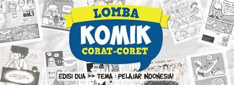 Komik Corat Coret lomba komik corat coret tema pelajar indonesia cara ikutan hellomotion