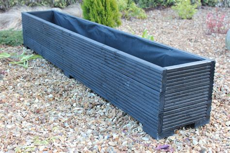 Great Planters by 2 Metre Wooden Garden Planter Trough Made Great