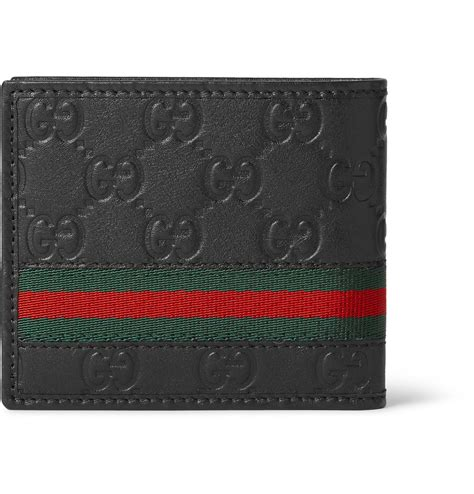 9885 3 Gucci 3 In 1 gucci embossed leather billfold wallet in black for lyst