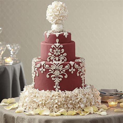 Wilton Wedding Cakes by Wedding Cake In Marsala Wilton
