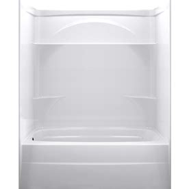 shop delta laurel high gloss white acrylic bathtub wall shop delta styla high gloss white acrylic wall and floor 3
