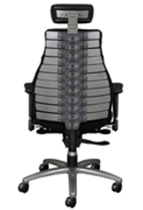new ergonomic chair has an adjustable backbone spine