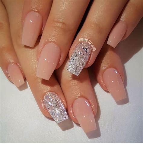 nail art pink  silver glitter negle negledesign