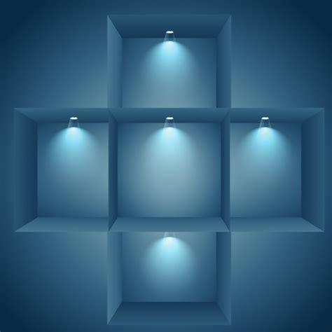 Illuminated Shelf by Illuminated Shelves On Wall Vector Free