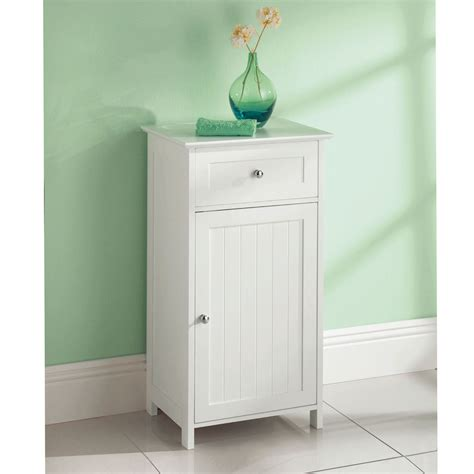 White Wooden Bathroom Storage White Wooden Bathroom Cabinet Shelf Cupboard Bedroom Storage Unit Free Standing