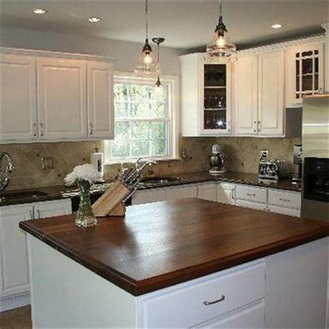 La Cornue Kitchen Designs by Walnut Butcher Block Countertop Transitional Kitchen Bhg