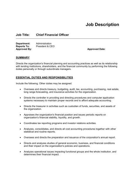 5 Free Job Description Templates Excel Pdf Formats Description Template Exle