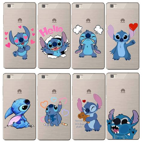 Silicon Casing Softcase Emoji Samsung C9 Pro for coque p8 lite 2017 p9 lite p10 stitch emoji silicone soft back cover