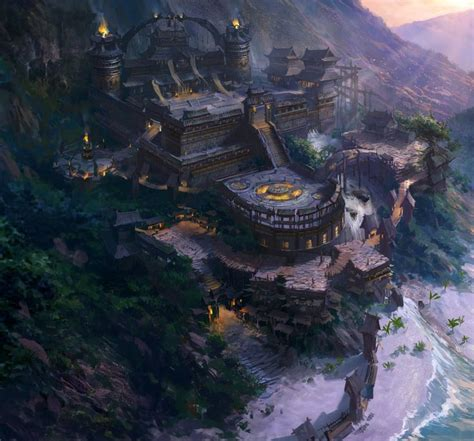 fantasy environment by atomhawk on 380 best d d 5e caign locals monsters weapons images on costumes character