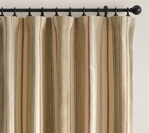 pottery barn striped curtains joshua stripe drape pottery barn la maison pinterest
