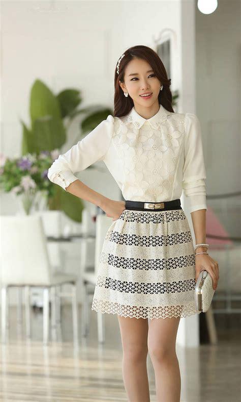 Kemeja Bunga Kemeja Murah Blouse Atasan Wanita atasan wanita brokat motif bunga model terbaru jual murah import kerja