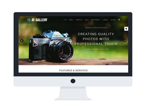 joomla photography template free at gallery free photography image gallery joomla