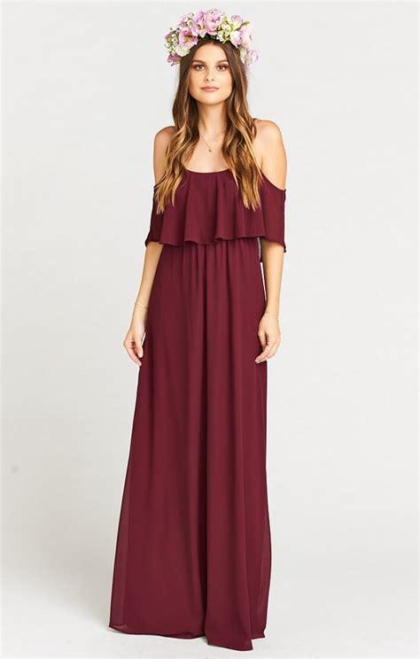 Tst Longmaxi Aster Maroon 55 Burgundy Bridesmaid Dresses For Fall Winter Weddings